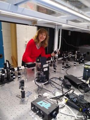 Prof. Berrah in her lab